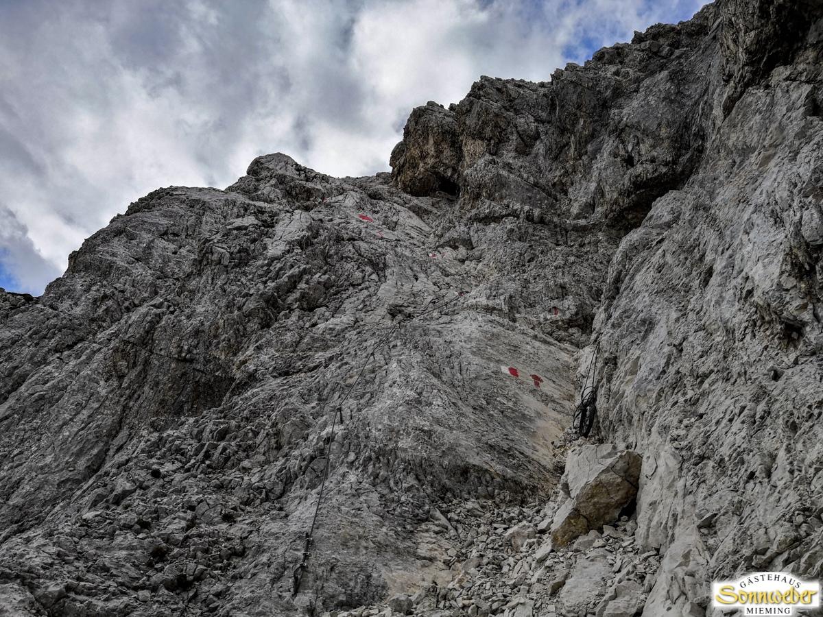 Hohe Munde Überschreitung - Im Klettersteig